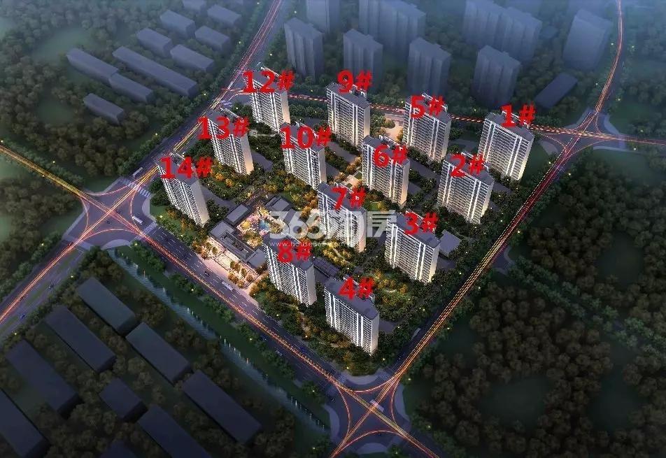 江宁孔雀城·紫樾澜庭鸟瞰图