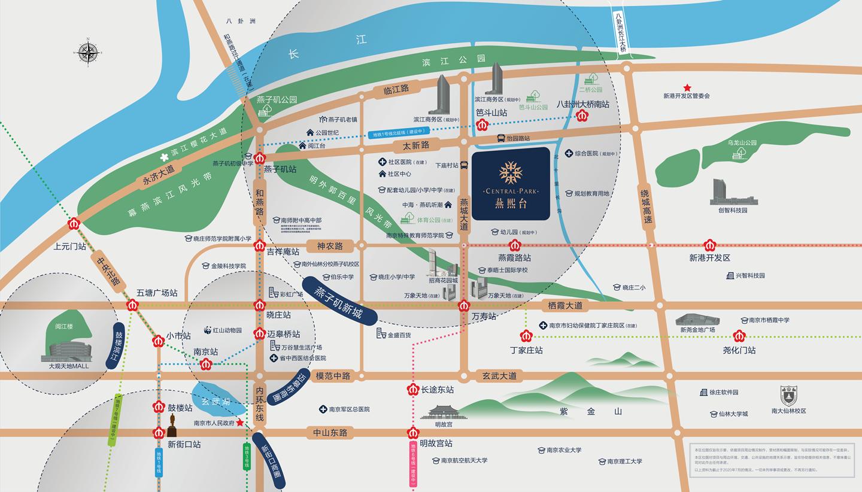 燕熙台交通图