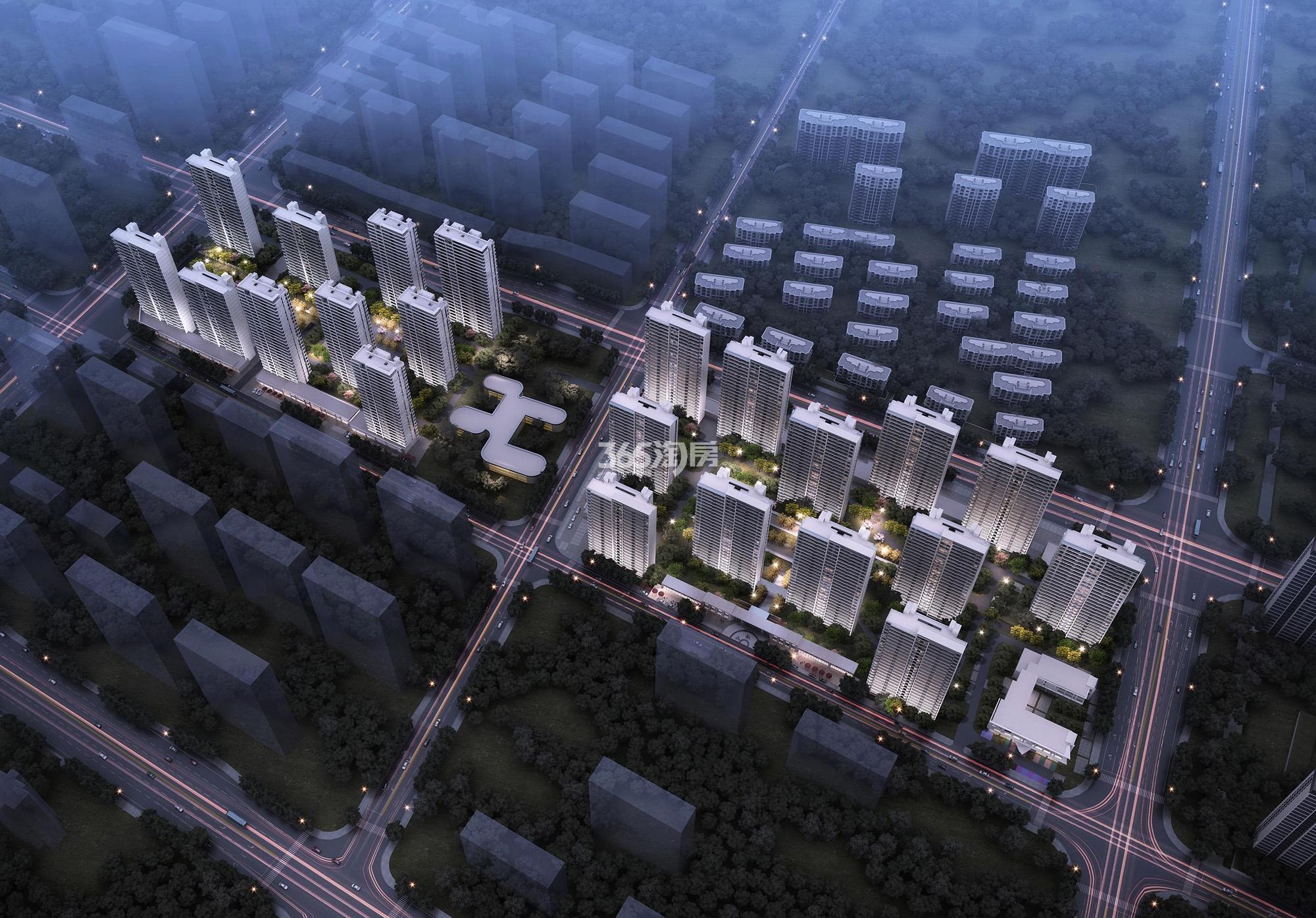 上海大华潮悦前城鸟瞰图