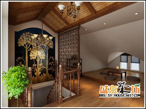 阁楼装修效果图风格简约不失设计感,隔出来一个会客的客厅,亲朋好友相