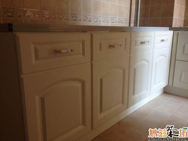 づ~ 3~)づ绝美欧式橱柜,厨电全部安装完毕~~大衣柜柜门,拉手,室内门
