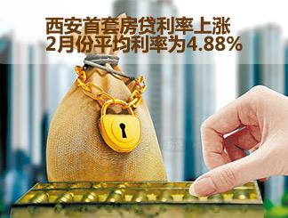 西安首套房贷利率上涨 2月份平均利率为4.88%