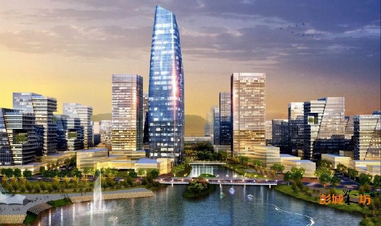 徐州西部新城概念规划设计(西城区域整体设计方案图)